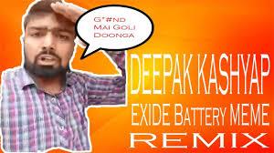 Battery Meme - manish kashyap exide battery meme remix song youtube