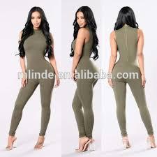 spandex jumpsuits romper pattern 95 polyester 5 spandex mock neck sleeveless