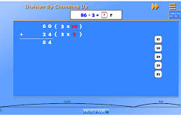 divide numbers up to 4 digits by a one digit number using the
