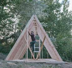 building an a frame cabin unac co