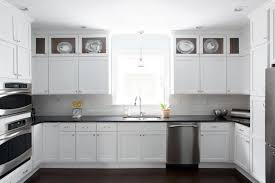 White Kitchen Cabinets With Black Granite White Kitchen Cabinets With Black Countertops Transitional