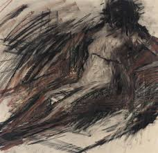 frank auerbach untitled charcoal on paper