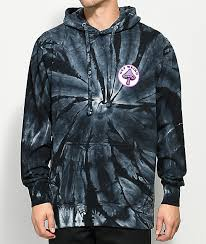 know bad daze get weird black tie dye hoodie zumiez