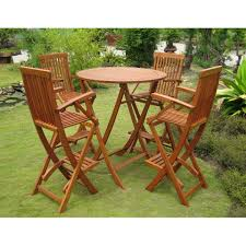 Patio Bar Height Table And Chairs by Dining Room Astounding Small Outdoor Dining Room Decoration Using