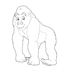 coloring page of gorilla gorilla coloring pages www glocopro com