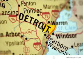 Dearborn Michigan Map by Map Of Detroit Michigan Stock Image I1767825 At Featurepics