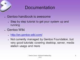 tutorial gentoo linux gentoo linux software freedom day gentoo linux software freedom