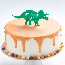 dinosaur cake topper personalised triceratops dinosaur birthday cake topper by owl