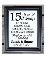 15 wedding anniversary 15th wedding anniversary cotton print 15th wedding gift 15