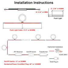 how to install led puck lights kitchen cabinets aiboo linkable cabinet led lighting 12v dimmable puck lights with wireless rf remote hardwired wall in for kitchen mood lighting