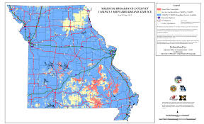 County Map Of Missouri High Speed Maps Mobroadbandnow