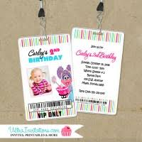vip pass birthday invitations backstage pass with lanyard invites