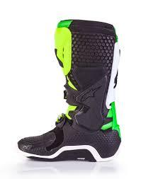 alpine star motocross boots alpinestar vegas le tech 10 motocross boots black white green
