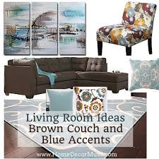 Blue And Brown Living Room by Brown Sectional Sofa Plus Blue Living Room Inspiration Home