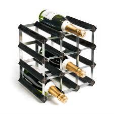 rta 12 bottle wooden wine rack u2013 black ash robert dyas