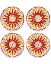 bargains on grapefruit melamine appetizer plates set of 4