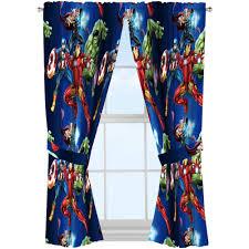 Nursery Curtain Tie Backs by Marvel U0027s Avengers Blue Circle Boys Bedroom Curtains Set Of 2