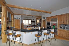 l shape kitchen decoration using rustic wrought