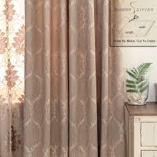 Blackout Drapery Fabric 280cm Wide Cotton Linen Solid Coffee Brown Jacquard Blackout
