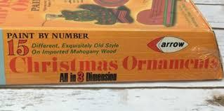 vintage 70s arrow 15 paint by number wood 3d ornaments