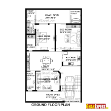 house plan for 33 feet by 55 feet plot plot size 202 square yards