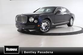 bentley mulsanne black 2016 used 2016 bentley mulsanne for sale pasadena ca