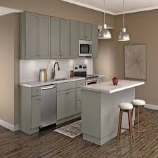 home depot kitchen cabinets hton bay courtland base cabinets in gray kitchen the home depot