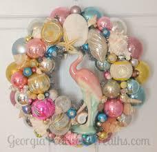 sea shells u0026 shiny brites wreath a georgiapeachez wreaths