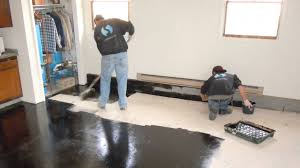 Garage Laminate Flooring Trucrete How To Apply Truamour One Day Epoxy Garage Flake Floor