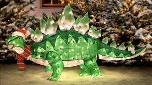 a lightup stegosaurus is just what your lawn nativity needed