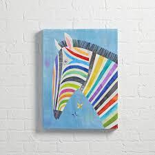 zebra print desk accessories zebra colorful wall art the land of nod