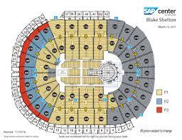 Key Arena Floor Plan Blake Shelton Sap Center
