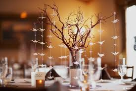 tree centerpieces simple wedding table decorations on a budget