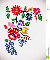 Design Patterns For Cards Polish Floral Folk Embroidery Patterns For Card U2014 Stock Vector