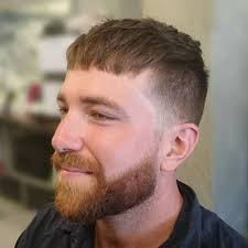 textured top faded sides top 25 caesar haircut styles for stylish modern men