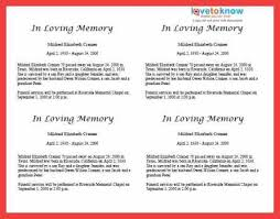 obituary newspaper template memo example