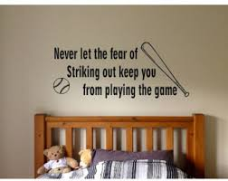 Wall Decal Quotes For Bedroom by Baseball Wall Decal Etsy