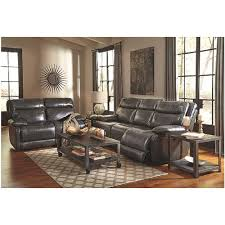 Ashley Leather Living Room Furniture Palladum Metal Reclining Sofa U7260188 Signature Design By Ashley