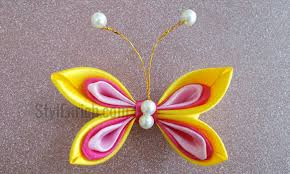 satin ribbon butterfly easy and handmade diy craft
