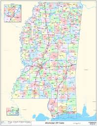 Galveston Zip Code Map by Mississippi State Zipcode Laminated Wall Map U2022 90 00 Picclick