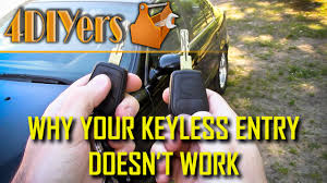5 reasons why a keyless remote does not work youtube