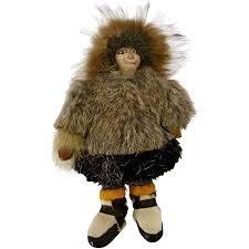 antique eskimo inuit native american doll 9