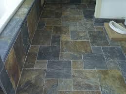 slate tile in bathroom