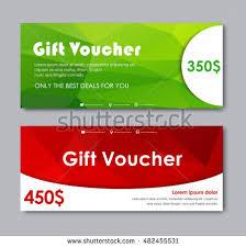 green gift voucher vector illustration set gift vouchers templates green stock vector 482455531