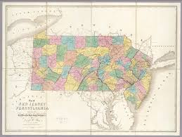 Pennsylvania Counties Map by Of New Jersey And Pennsylvania Burr David H 1803 1875 1839