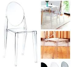 Clear Acrylic Dining Chairs Dining Chairs Home Modern Clear Acrylic Side Dining Chair New