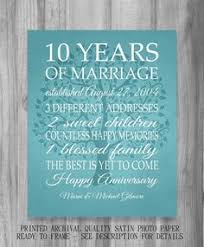 best 10 year anniversary gifts wedding anniversary gifts for him paper canvas 10 year