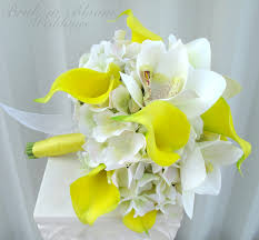 yellow calla yellow calla orchid wedding bouquet in bloom
