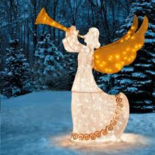 17 best lighted outdoor angel christmas decoration images on