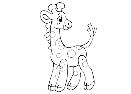 pin baby giraffe coloring pages cutting trees cartoon